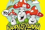 открытка, Happy & Funny Mashrooms